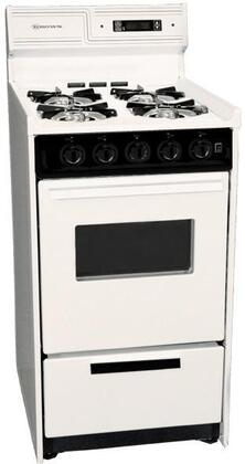 "Summit SNM1307CKW 20""  Bisque Gas Freestanding Range with Open Burner Cooktop, 2.46 cu. ft. Primary Oven Capacity, Broiler"