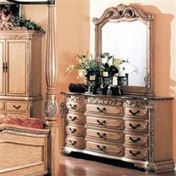 Yuan Tai W6017DR Isabella Whitewash Series  Dresser