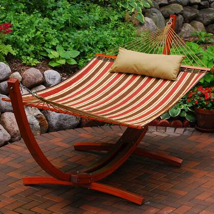 Algoma 6710X 12 Foot Wooden Arc Frame, Hammock and Matching Pillow