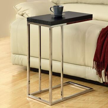 Monarch I 300X Rectangular Accent Table, with Chrome Metal Legs, Wooden Top, and Stylish Look
