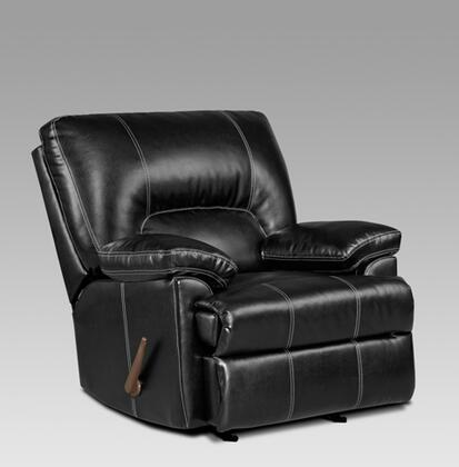 Chelsea Home Furniture 192800RR Kira Chaise Rocker Recliner with 16 Gauge Wire, Zippered Seat Cushions, Sinuous Springs, Solid Kiln Dried Hardwoods and Engineered Wood Products in