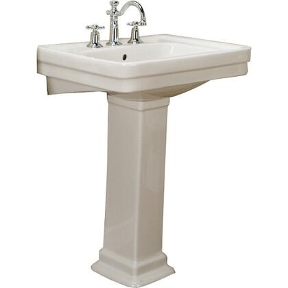 """Barclay 366 Sussex 660 Pedestal Lavatory, with Pre-drilled Faucet Hole, 8.875"""" Basin Depth, and Vitreous China Construction"""