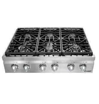 "Dacor DRT366SNG 36"" Distinctive Series Gas Sealed Burner Style Cooktop"