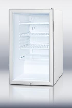 "Summit SCR450L7 20"" SCR450L7 Series Stainless Steel Compact Refrigerator with 4.1 cu. ft. Capacity"