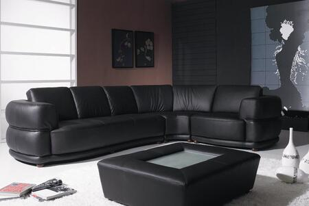 VIG Furniture VGYIT25  Stationary Leather Sofa