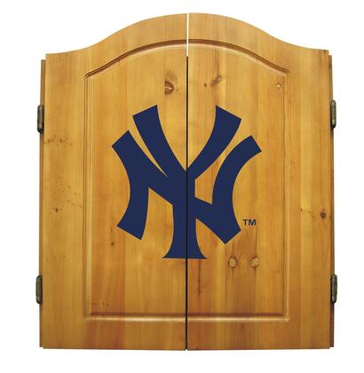 Imperial International 20-50 MLB Themed Complete Dart Cabinet Set With One Pine Dart Cabinet, One Bristle Dart Board & Interior Score Board