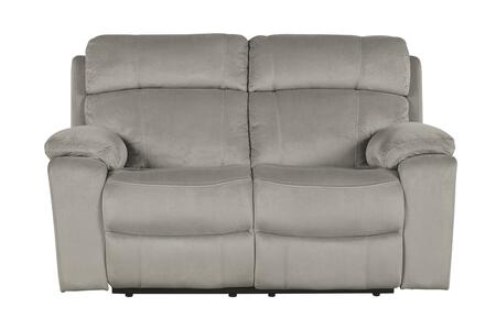 Signature Design by Ashley 6480414 Uhland Series Fabric Reclining with Metal Frame Loveseat