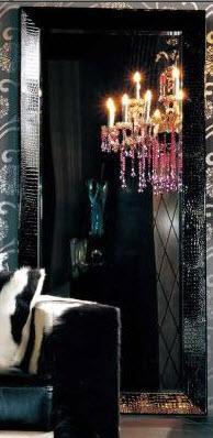 VIG Furniture AK421210BLK Armani Xavira Series Rectangular Portrait Floor Mirror