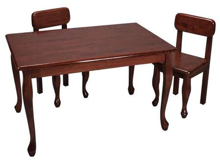 Gift Mark 3001 X Durable Solid Wood Queen Anne Rectangle Table and Two Chair Set in
