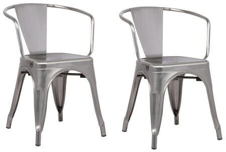 EdgeMod EM113POLX2 Trattoria Series Modern Metal Frame Dining Room Chair