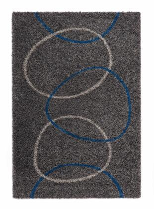 Citak Rugs 5610-075X Shoreline Collection - Reef - Graphite/Teal