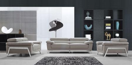 VIG Furniture VG2T0724GRY Modern Leather Living Room Set