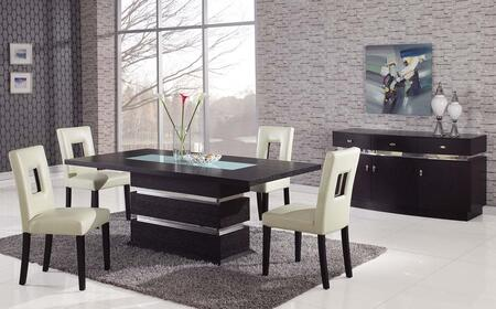 Global Furniture USA G072DTG072DCBGE5pc Global Furniture Din