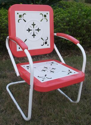 4D Concepts 71540 Retro Series  Metal Frame  Patio Arm Chair
