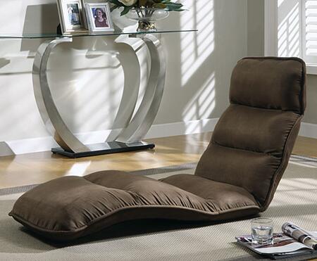 Monarch I9051 Contemporary Microfiber Chaise Lounge