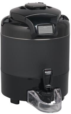 Bunn-O-Matic 42700005x 1 Gal ThermoFresh Digital Sight Gauge Portable Server No Base With Digital Count Up Timer, Brew-though Lid, Fast Flow Faucet, Vacuum Insulated, in