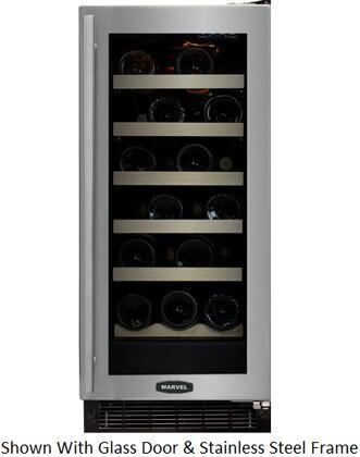 """Marvel 30WCMBDLL 14.875"""" Built In Wine Cooler, in Custom Frame"""
