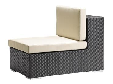Zuo 701003 Cartagena Series  in Espresso Weave, Beige Cushion