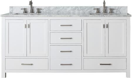 """Avanity MODERO-V72-X Modero Collection 72"""" Vanity Only, with Four Soft Close Doors, Five Soft Close Drawers, and Brushed Nickel Finished Hardware"""