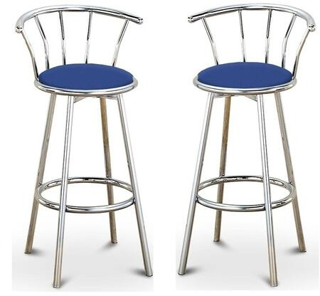 Acme Furniture 02045BU Cucina Series Residential Bycast Leather Upholstered Bar Stool