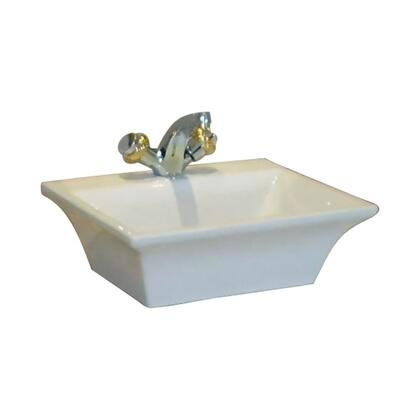 Barclay 447WH Lea Above Counter Fire Clay Basin with in White