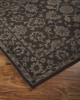 """Milo Italia Beau RG416157TM """" x """" Size Rug with Floral Design, Hand-Tufted, 5-6mm Pile Height and Wool Material Backed with Cotton Latex in Chocolate Color"""