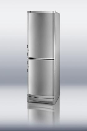 Summit CP171SS  Counter Depth Bottom Freezer Refrigerator with 12.0 cu. ft. Capacity in Stainless Steel