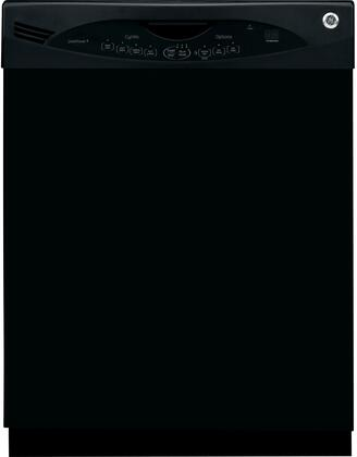 GE GLDA690PBB 690 Series Built-In Full Console Dishwasher with in Black