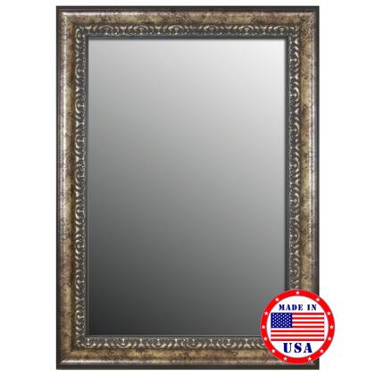 Hitchcock Butterfield 80620X 2nd Look Euro Floral Coppered Silver Framed Wall Mirror