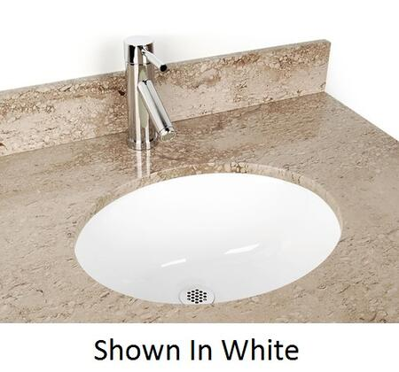 D'Vontz DV-H105XUM Small Oval China Bathroom Sink With 77% Recycled Copper, 99% Pure Copper & In