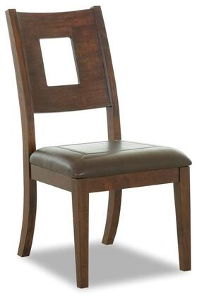 Klaussner 845900 Carturra Series Casual Leather Wood Frame Dining Room Chair