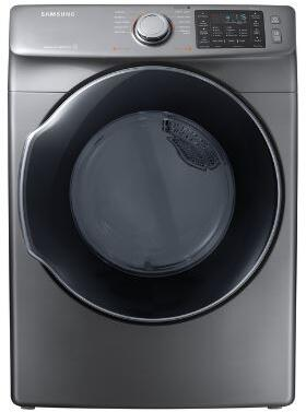 """Samsung Appliance DVE45M5500x 27"""" Front-Load Electric Dryer With 7.5 cu. ft. Capacity DOE, Energy Star Certified, Multi-Steam Technology, Vent Sensor, Sensor Dry, 4 Temperature Settings, Smart Care, Interior Drum Light, in"""
