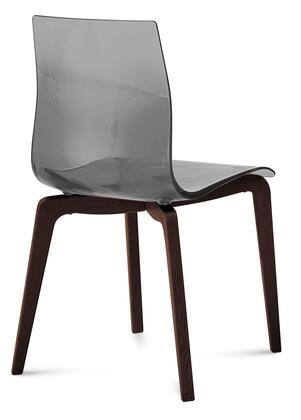 Domitalia GELSLSFCHSSFU Gel Series Transitional Wood Frame Dining Room Chair