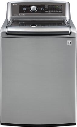 "LG WT5680HXA 27"" Top Load Washer With 5 Cu. Ft. Mega Capacity, Steam Technology, TurboWash Technology, SmartDiagnosis in Graphite Steel"