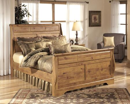 Signature Design by Ashley B219-SLEIGHBED Bittersweet Collection X Size Sleigh Bed: Replicated Pine Grain