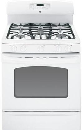 GE JGB810DETWW  Gas Freestanding Range with 5 Sealed Burner Cooktop Storage 5.0 cu. ft. Primary Oven Capacity |Appliances Connection