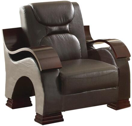 Glory Furniture G485C Faux Leather Armchair in Cappuccino