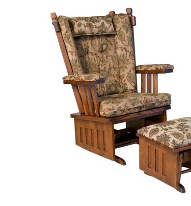 Chelsea Home Furniture 313003AUTUMN  Glider Wood Frame Fabric Rocking Chair