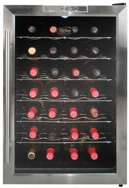 "Vinotemp VT28TEDS 18.25"" Freestanding Wine Cooler"