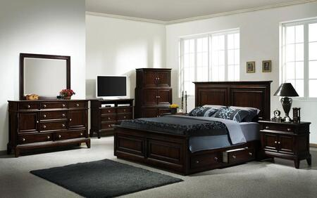Accent HC875532BED Lancaster Series  Queen Size Storage Bed