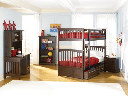 Atlantic Furniture YBBCOLUMBIATWINTWINALAW Columbia Series  Twin Size Bunk Bed
