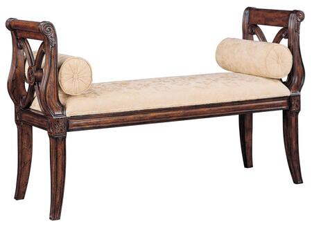 Ambella 02001710001 Accent  Wood Fabric Bench