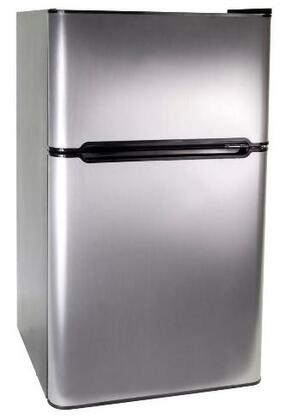 Haier HNDE03VS  Freestanding Compact Refrigerator with 3.3 cu. ft. Capacity,  Field Reversible Doors