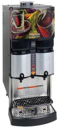 Bunn-O-Matic 36500.000x LCA-2 PC 2 Product Liquid Coffee Ambient Dispense With Portion Control, LED Alerts, Ventilated Cabinet, FlavorGard, in Silver