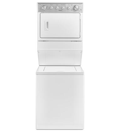 """Whirlpool WxT4027EW 27"""" Combination 2.5 cu. ft. Washer/ 5.9 cu. ft. xxx Dryer with HE Agitator Fabric Softener Cap, White Porcelain Basket, Auto Drying System in White"""