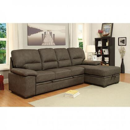 "Furniture of America Alcester Collection CM6908XX-SET 113"" 2-Piece Sectional with Left Arm Facing Sofa and Right Arm Facing Chaise in"