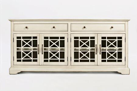 "Jofran Craftsman Collection X75-9 70"" Media Unit with Four Glass Doors, Two Drawers, Adjustable Shelves, and Wire Management in XX"