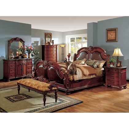 Yuan Tai PT9751KTVSET Porter Series 5 Piece Bedroom Set