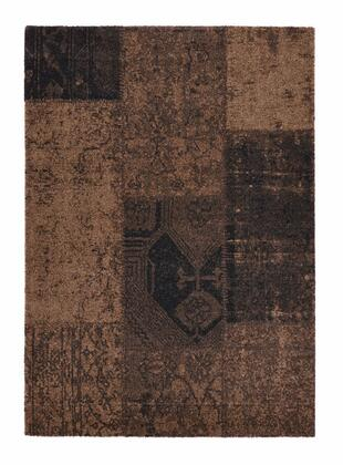 Citak Rugs 3500-075X Hudson Collection - Patchwork - Brown Leather