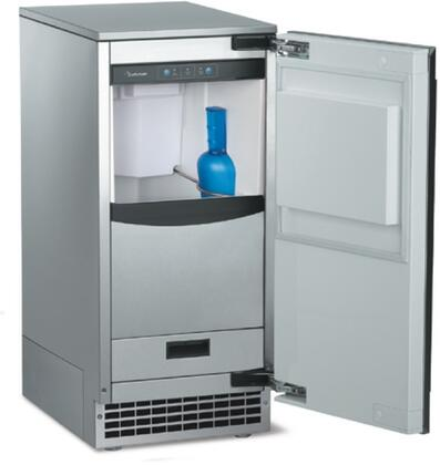 "Scotsman SCN60PA1S 15"" Brilliance Ice Machine with Drain Pump, 80 lbs. Daily Ice Production, 26 lbs. Storage Capacity, Nugget Ice Cubes, and Self-closing Door, in"